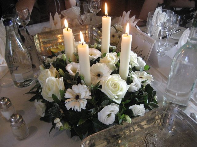Elegant candle table centre.