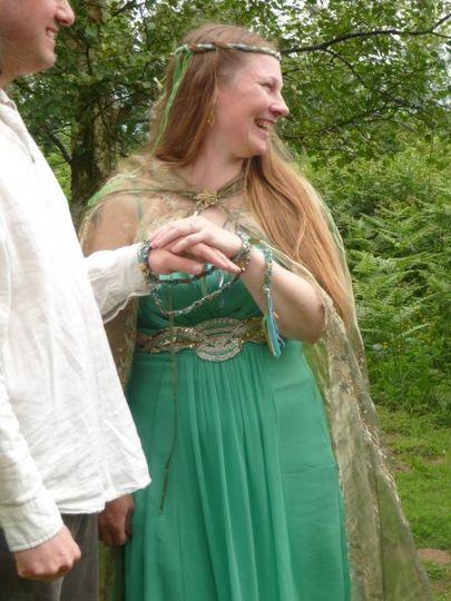 A woodland bride