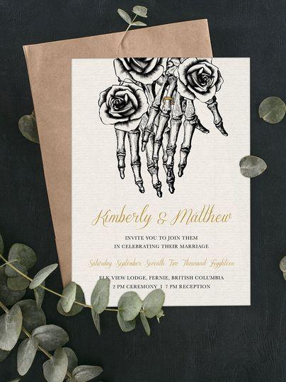 Till Death Wedding Invitation