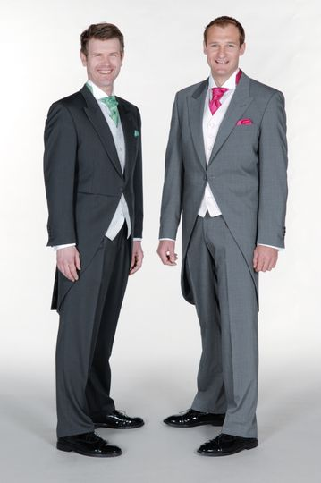 Slim fit grey morning suits
