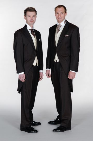 Brown morning suits