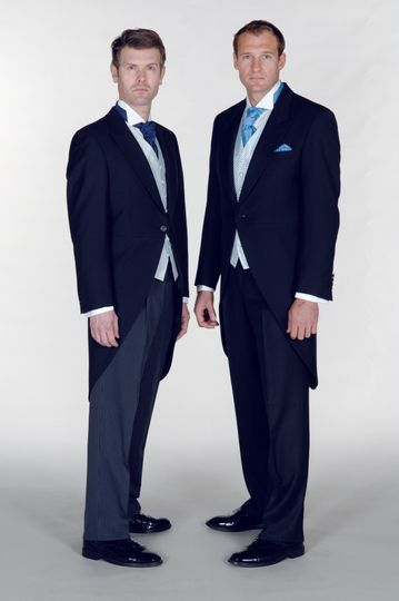 Classic navy morning suits