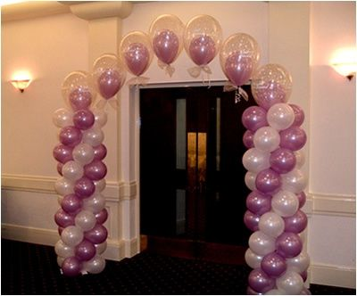 Balloon columns and arch