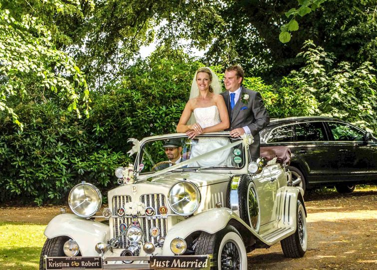 Beauford with bride and groom