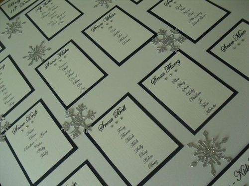 Winter wonderland seating plan