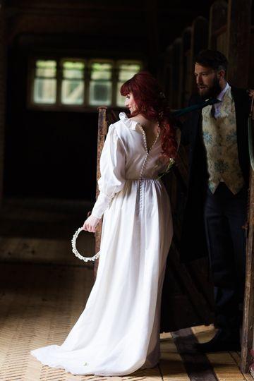 Pure vintage wedding dress