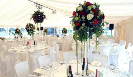 Hagley Hall wedding decoration