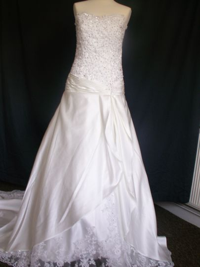 Custom lace / satin dress
