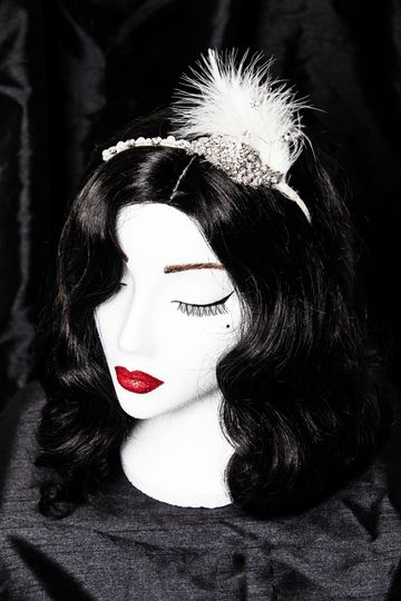 Bettie - feather headband