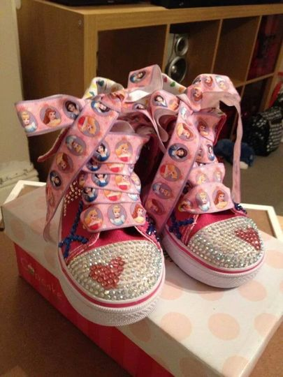 Disney converse girls shoes