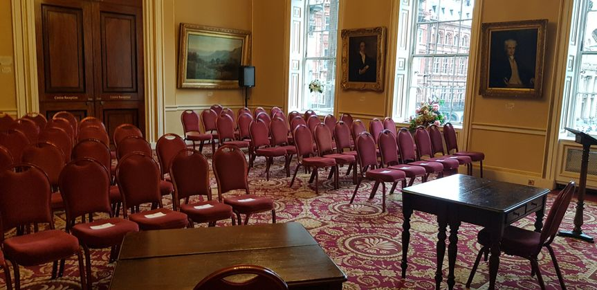Ceremony In Reception Room: Liverpool Town Hall