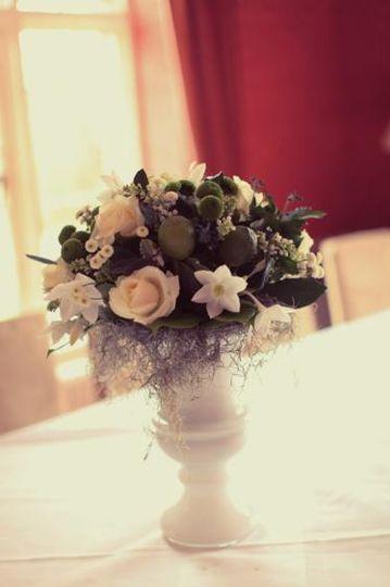 White & Green Vase