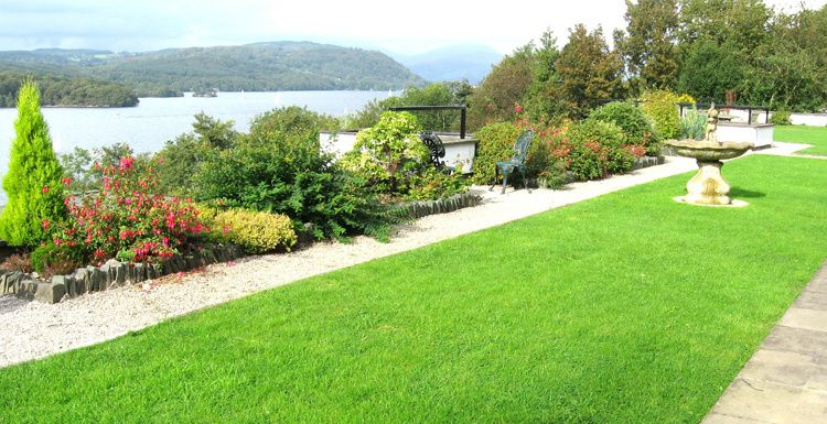 Garden with lake views