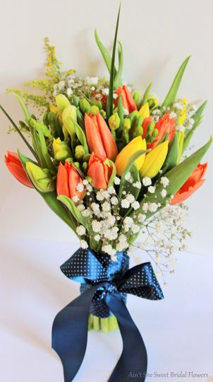 Tulips bridal bouquet