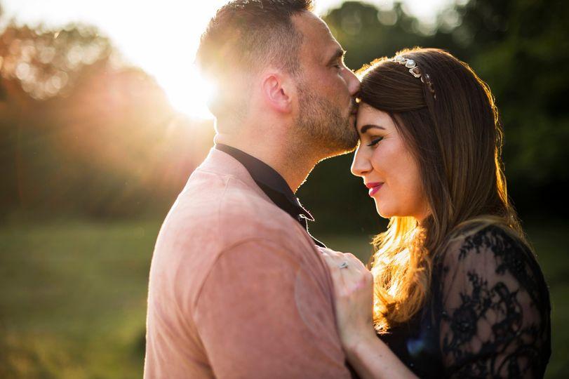 Engagement sunset photos