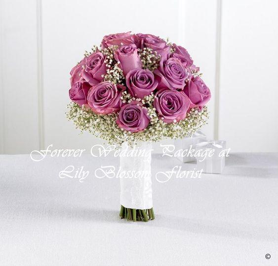 Lavender Rose & Gypsophila Bri