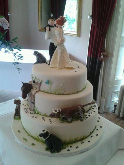 Jill & Charlies Wedding Cake
