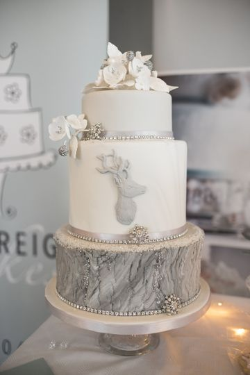 Winter Stag Wedding Cake