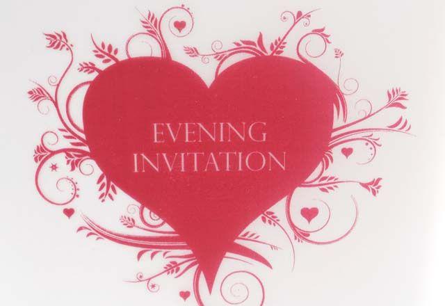 Scripti Heart - Evening Invitation
