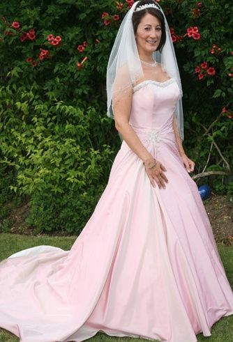 Pretty in Pink wedding gown