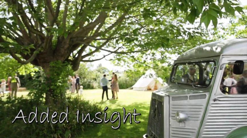 Sun dappled wedding scene