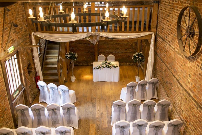 The Stable Wedding Ceremony From Tewin Bury Farm Hotel Photo 6
