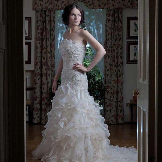Chloe in an Amanda Wyatt dress