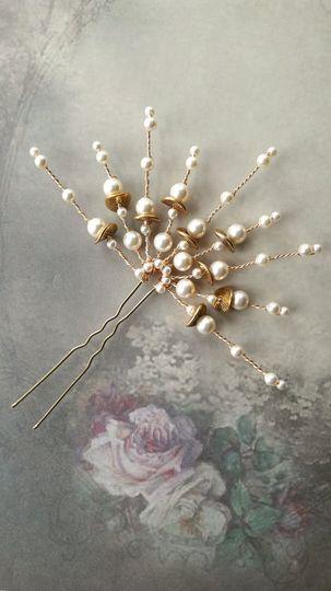 Deco fan hair pin