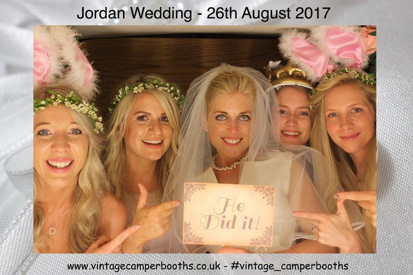 Happy bride & bridesmaids