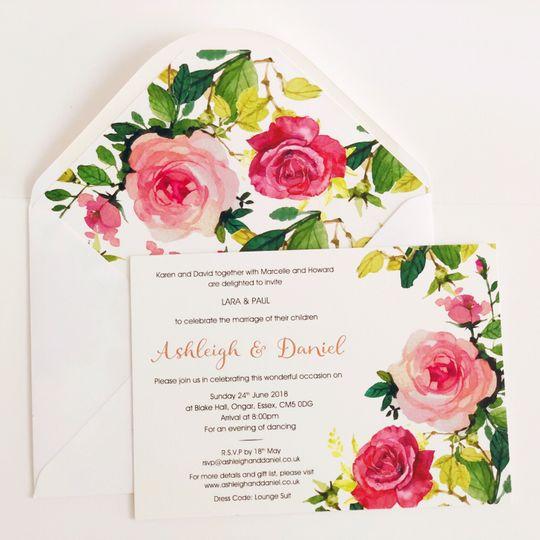 Letterpress Invite