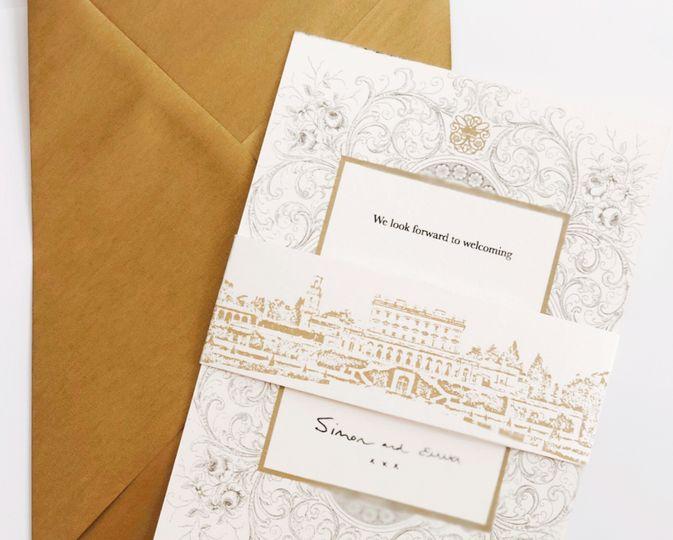 Bespoke wedding invite