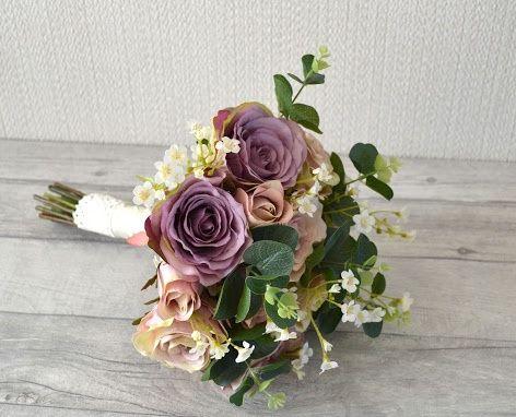 Silk Vintage mauve Bouquet