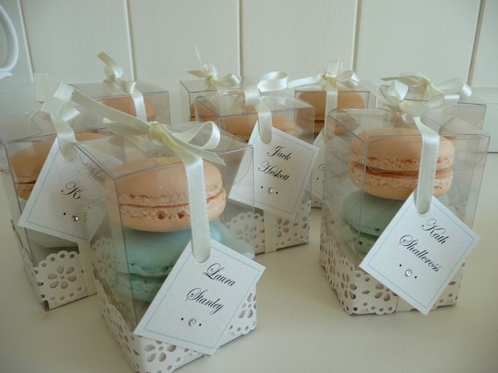 Macaron Wedding Favours From Just Yours Wedding Cakes Photo 15