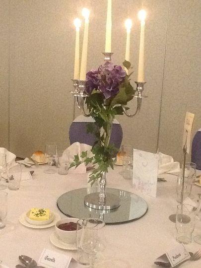 Silver candelabera to hire
