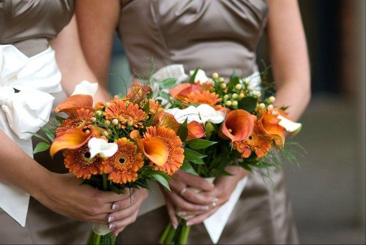 Orange calla lily and gerbera
