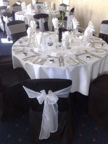 Black Chair Cover hire from £3