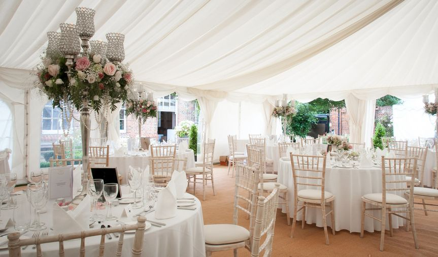 St martin's priory marquee