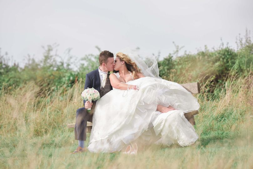 Beautiful kiss in the grass