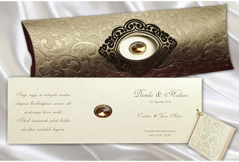 Tunisian muslim wedding card