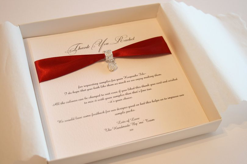 Wedding invitations with a silver heart