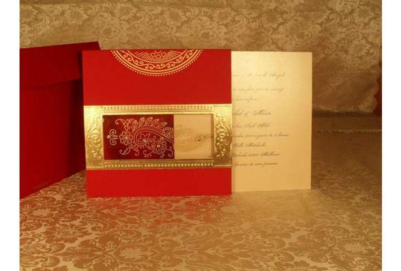 Elegant Muslim Wedding Cards