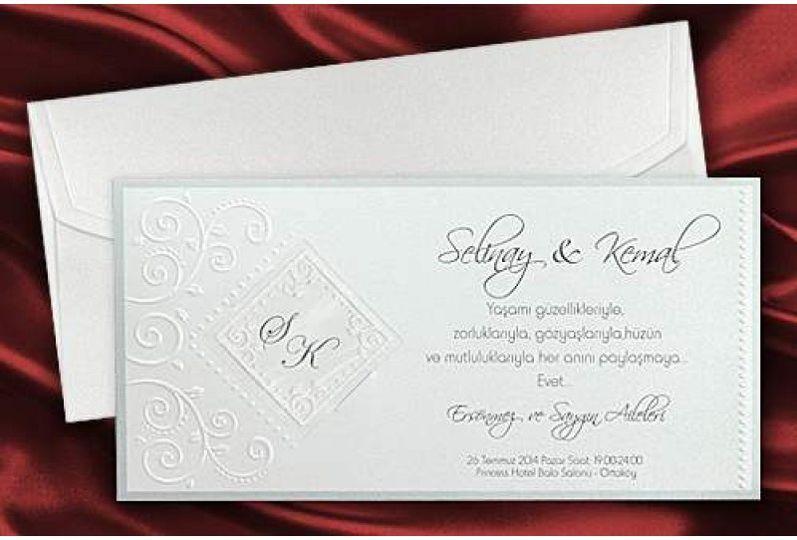 Elegant White Wedding Cards