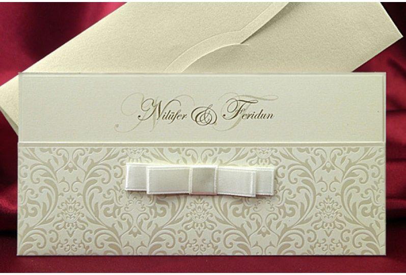 Ivory arabic Wedding Cards