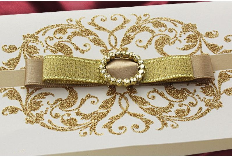 Gold tissue and swirl luxury