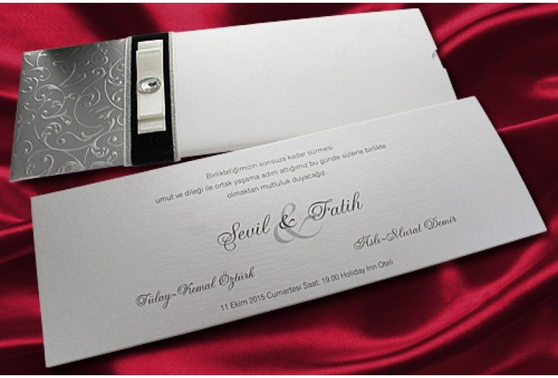 Gray luxury Wedding Card