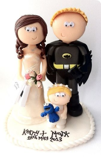 batman and bride wedding cake topper uk indian amp groom topper from googly gifts wedding cake 11114