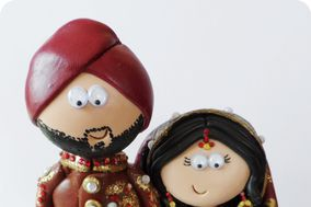 Googly Gifts Wedding Cake Toppers