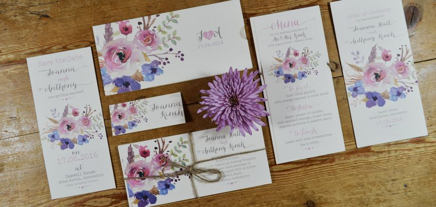 Watercolour Flowers Stationery
