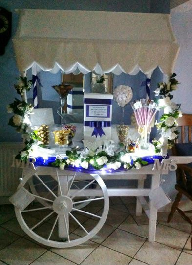 Candy cart with own lights
