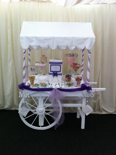 Victorian candy cart halfway